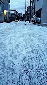 20170222外の様子朝小路も凍る