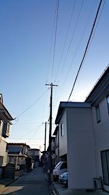 20170320外の様子朝素晴らしい青空が広がる3