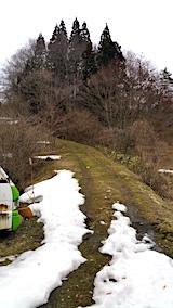 20170321ラベンダーの畑へと続く急な坂道手前の道路の様子