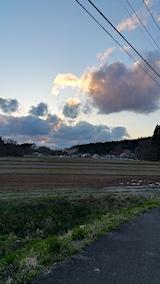 20170422山からの帰り道の様子夕日は残念