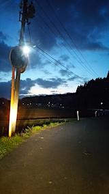 20170423山からの帰り道の様子すっかり暗くなる