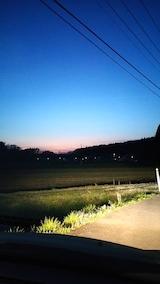 20170424山からの帰り道の様子素晴らしい夜空