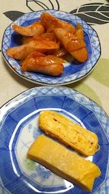 20170425お昼ご飯ソーセージと玉子焼き