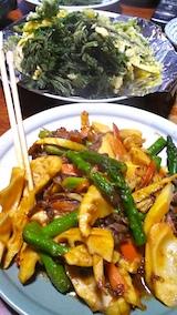 20170429晩ご飯タケノコと牛肉のオイスター炒め