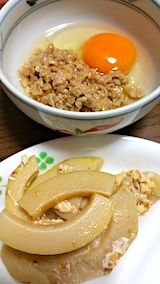 20170526晩ご飯玉子納豆
