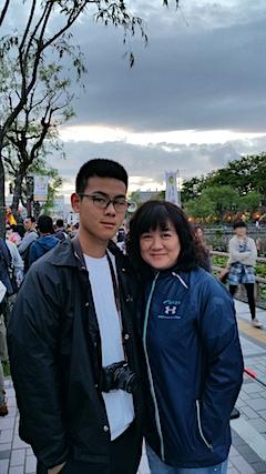 20170527林小姐と息子さん