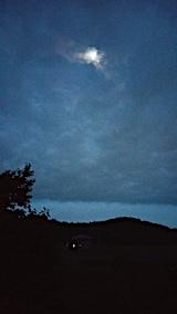 20170605山の様子夜のはじめ頃お月さま