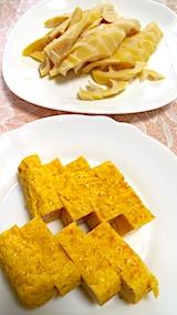 20170609お昼ご飯タケノコと玉子焼き