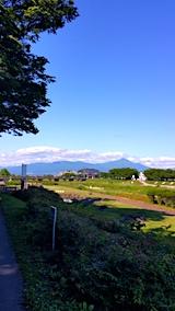 20170617会津美里町から望む会津磐梯山1