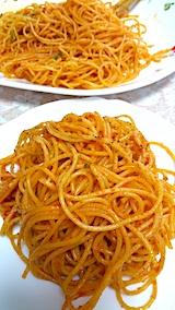 20170707晩ご飯スパゲティーナポリタン