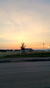20170719米沢市内から望む夕焼け空