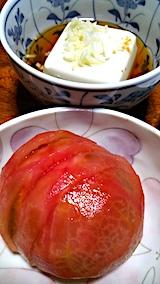 20170719晩ご飯豆富とトマト