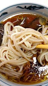 20170729お昼ご飯十文字シイタケ麺とそば2