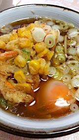 20170801お昼ご飯かき揚げ玉子ソバ1