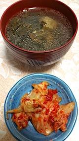 20170801晩ご飯ふく菜とスペアリブのスープ