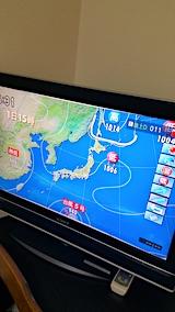 20170801NHKテレビより今日の気圧配置1