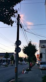 20170801外の様子夕方北の空