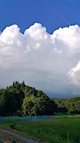 20170819山の入口の様子真っ白な雲