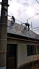 20170828屋根の塗装作業3
