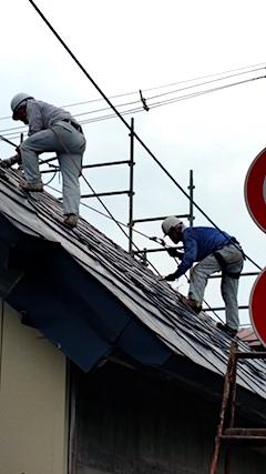 20170828屋根の塗装作業2