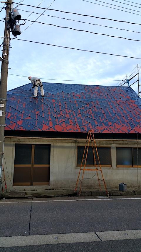 20170828屋根の塗装作業5