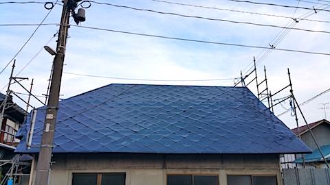 20170828屋根の塗装作業6