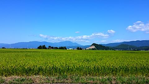 20170901田中君宅より帰る途中の様子会津磐梯山