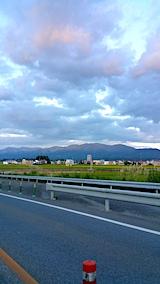 20170901新庄北道路終点より山並みを望む