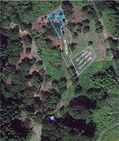 20170908栗畑の下草刈りマップ