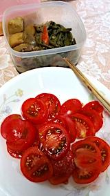 20170915お昼ご飯煮つけとトマト