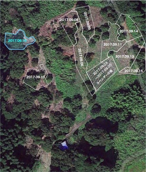 20170916栗畑の下草刈りマップ