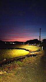 20170916山からの帰り道の様子田んぼと夕焼け空3