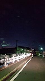 20170916山からの帰り道の様子横森橋より花火を望むも