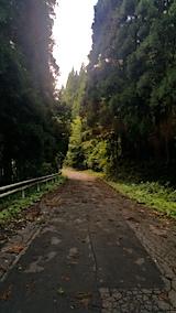 20170919山へ向かう途中の様子朝峠道