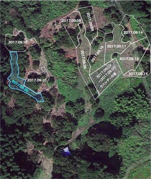 20170920栗畑の下草刈りマップ