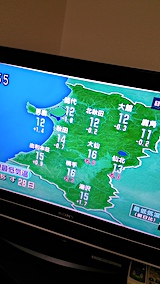 20170927NHKテレビ明日の秋田県の最低気温