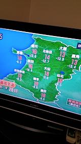 20170927NHKテレビ明日の秋田県の最高気温