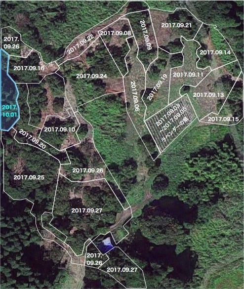 20171001栗畑の下草刈りマップ
