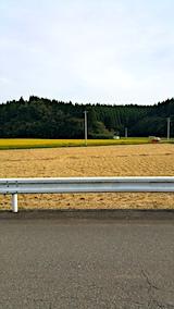 20171001山へ向かう途中の様子田んぼ稲刈り2