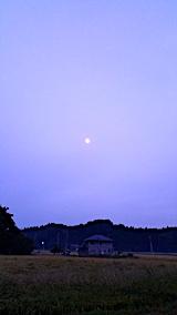 20171001山の入口東の空にお月さま