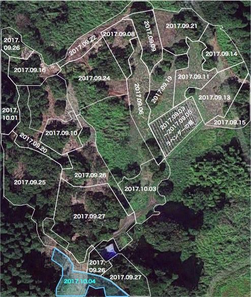 20171004栗畑の下草刈りマップ