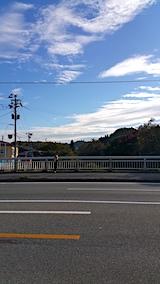 20171014山からの帰り道の様子桜大橋より望む空