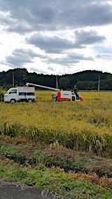 20171015山の入り口の田んぼで稲刈り始まる