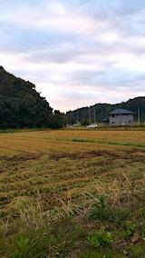 20171018山の入り口の様子稲刈りが終わる