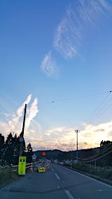 20171026秋田空港へ向かう途中の様子空