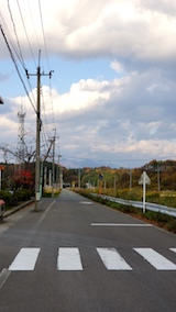 20171105山へ向かう途中の様子太平山