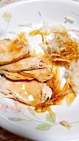 20171125お昼ご飯鶏肉とダイコンのサラダ