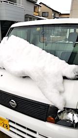 20171125軽トラに積もった雪