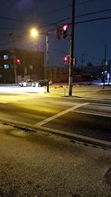 20171201外の様子夜のはじめ頃雪が降り出す1