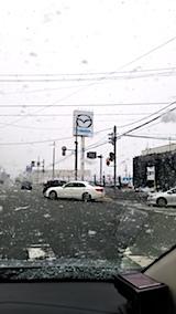 20171202車検のため整備工場へ行く途中に雪が